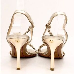 Charles Jourdan Leather Gold Heels size 7